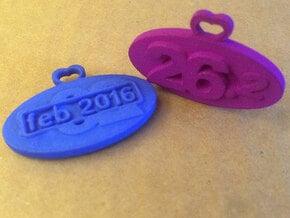Marathon Medal (customizable date) in Blue Processed Versatile Plastic