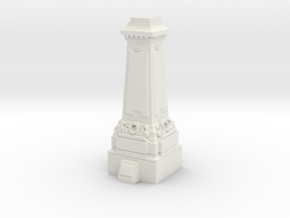 TT Gauge Statue Plinth in White Natural Versatile Plastic