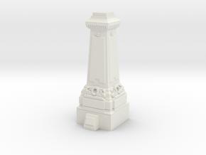 HO/OO Gauge Statue Plinth in White Natural Versatile Plastic
