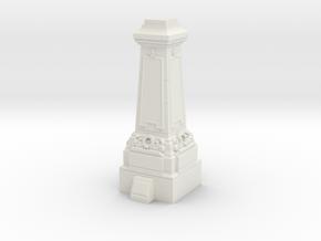 28mm/32mm Statue Plinth in White Natural Versatile Plastic