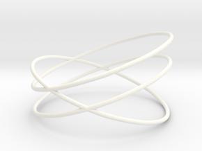 Bracelet in White Processed Versatile Plastic