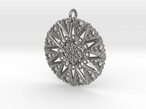 Star Mandala in Natural Silver