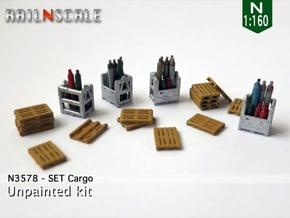 SET Cargo (N 1:160) in Smooth Fine Detail Plastic