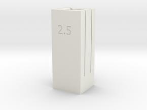 6/8mm Tube Cutter 2.5/2.6 Dual Depth in White Natural Versatile Plastic