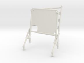 02C-LRV - Open Left Seat in White Natural Versatile Plastic