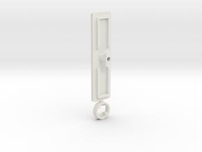 IIgs Port Cover (51mm) in White Natural Versatile Plastic