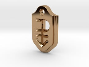 Pansexual Pendant - Debossed in Polished Brass
