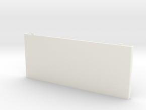 Nintendo New 3DS Coverplate *optimised* in White Processed Versatile Plastic