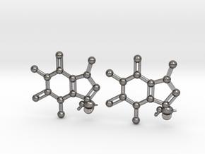 {pendant} Caffeine & Bee (for steel) in Polished Nickel Steel