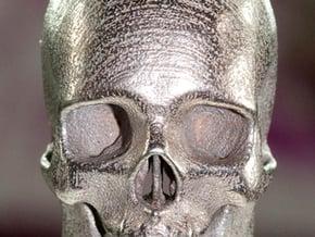 Human Skull With Loop in White Natural Versatile Plastic