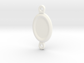 Margaery Necklace little circles in White Processed Versatile Plastic