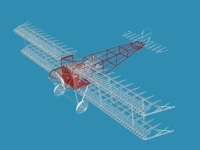 Fokker D.III Fuselage Mid/Late 1/32 in Smooth Fine Detail Plastic