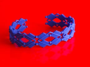 Diamond and pearls bracelet in Blue Processed Versatile Plastic