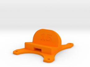 Emax Nighthawk 250 - 15° Action Cam Mount in Orange Processed Versatile Plastic