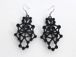 Amorphe Molecular Earrings - Chemistry Jewelry in Black Natural Versatile Plastic