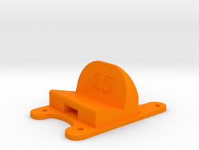 ZMR250 - 15° Action Cam Mount in Orange Processed Versatile Plastic