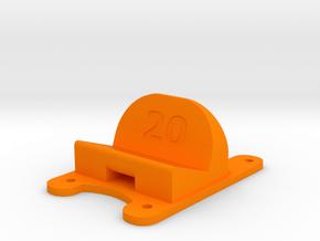 ZMR250 - 20° Action Cam Mount in Orange Processed Versatile Plastic