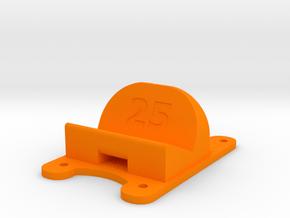 ZMR250 - 25° Action Cam Mount in Orange Processed Versatile Plastic