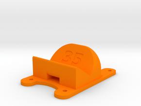 ZMR250 - 35° Action Cam Mount in Orange Processed Versatile Plastic