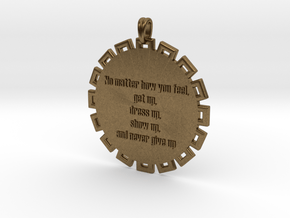 No Matter How You Feel   Jewelry Quote Necklace in Natural Bronze