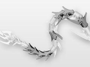 Articulated Predaking Tail extension in White Natural Versatile Plastic