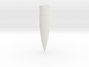 29mm 4:1 Ogive Nose Cone in White Natural Versatile Plastic