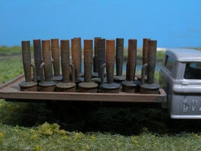 Hi-Lo Orchard Heater/Smudge Pot, 16, HO Scale in Smooth Fine Detail Plastic