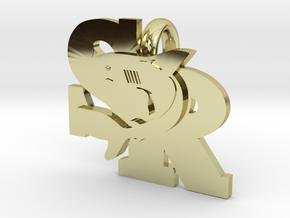 SharkPendant in 18k Gold Plated Brass