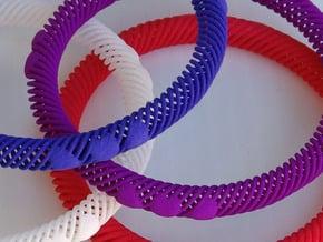 Bracelet Flexible 10 Hearts - 8mm in White Natural Versatile Plastic
