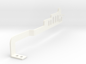 Side wall for Drop-on Jankó Piano Adaptor in White Processed Versatile Plastic