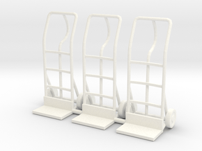 Hand truck 01. 1:24 Scale in White Processed Versatile Plastic