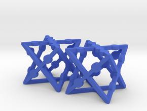 xCube Dice (Set of 2) in Blue Processed Versatile Plastic