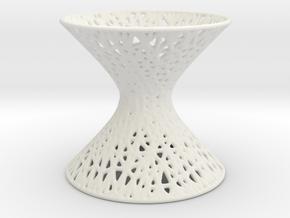 Hyperboloid Mesh Pattern in White Natural Versatile Plastic
