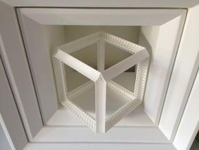 Perspective Cube Illusion 15cm in White Natural Versatile Plastic