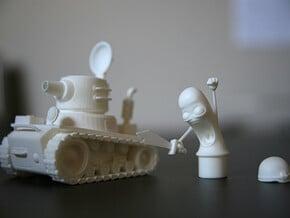 Tank Thicker 4 in White Natural Versatile Plastic