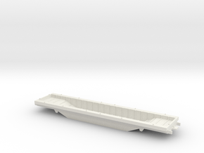 HO 1/87 Boeing aircraft parts railcar  in White Natural Versatile Plastic