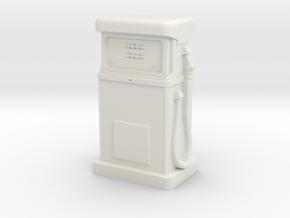 HO/OO Gauge - 1980's Petrol Pump in White Natural Versatile Plastic