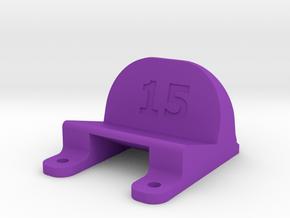 ImpulseRC Alien 5 - 15° Action Cam Mount in Purple Processed Versatile Plastic