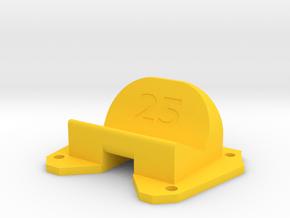 Birdseye KillerBEE - 25° Action Cam Mount in Yellow Processed Versatile Plastic