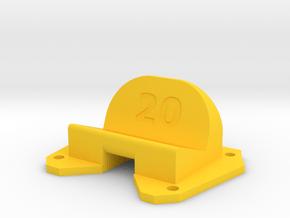 Birdseye KillerBEE - 20° Action Cam Mount in Yellow Processed Versatile Plastic