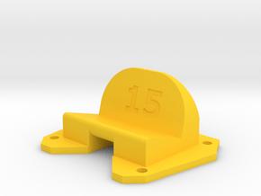 Birdseye KillerBEE - 15° Action Cam Mount in Yellow Processed Versatile Plastic