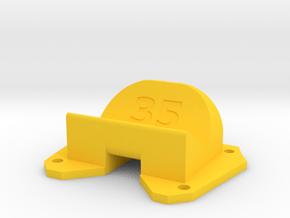 Birdseye KillerBEE - 35° Action Cam Mount in Yellow Processed Versatile Plastic