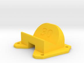 Birdseye KillerBEE - 30° Action Cam Mount in Yellow Processed Versatile Plastic