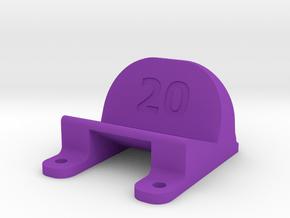 ImpulseRC Alien 6 - 20° Action Cam Mount in Purple Processed Versatile Plastic