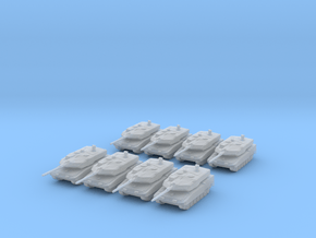 3mm Leopard 2A7 (8) in Smoothest Fine Detail Plastic