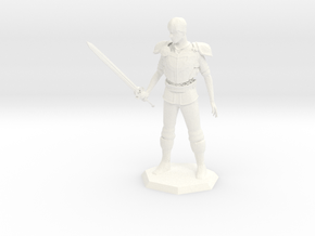3 inch Avacynian Paladin statue in White Processed Versatile Plastic