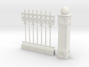 Iron Fence 4+1 cm in White Natural Versatile Plastic