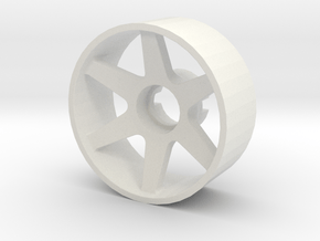 Llanta Mini-Z 21mm Delantera Offset 1 in White Natural Versatile Plastic