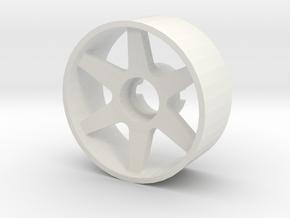 Llanta Mini-Z 21mm Delantera Offset 0 in White Natural Versatile Plastic