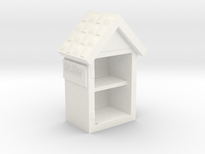 Little Library Part# 1: Bookshelf in White Processed Versatile Plastic